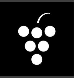 Grape white color icon vector