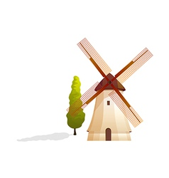 icon windmill vector image vector image