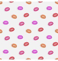 Lip imprint vector image