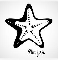 logo black starfish vector image