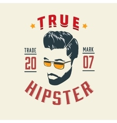 True Hipster Vintage Label vector image vector image