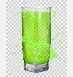 Water splashes around a transparent glass vector