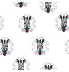 zebra stripes seamless pattern vector image