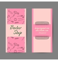 Barber Shop Business Cards vector image