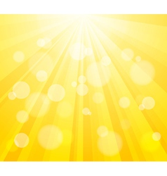Bright Sun and Paint Splashes vector image