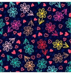 Set of banners Colorful floral seamless pattern vector image