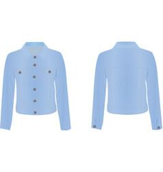 women blue jacket vector image vector image