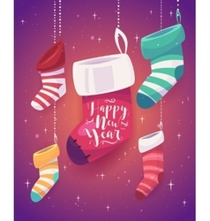 5 socks for gifts the new year vector