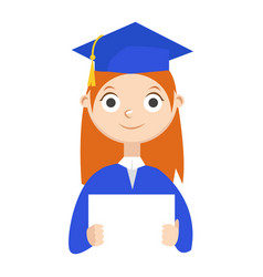 a graduate with a diploma vector image