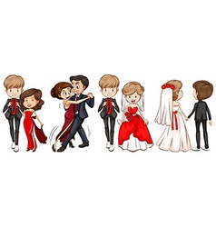 A group of couples vector image
