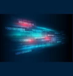 abstract digital binary matrix number technology vector image