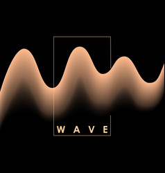 abstract pink color wave on black background vector image