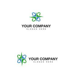 Active abstract logo with headphones logo design vector