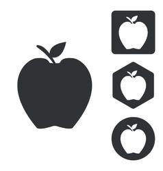 Apple icon set monochrome vector image