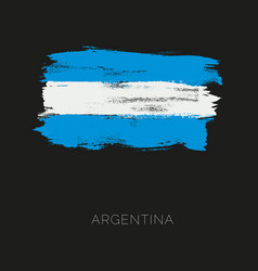 argentina colorful brush strokes painted national vector image