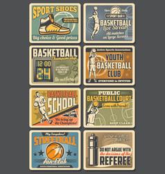 basketball fan club streetball sport school vector image