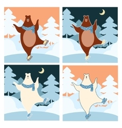 Bear on the ice vector image