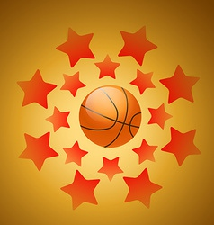 Beautiful background of basketball vector