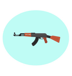 Big ak47 on a white background vector