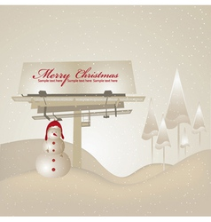 Billboard with snowman vector