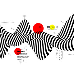black white design pattern with optical vector image