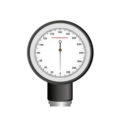 Blood pressure gauge isolated icon vector