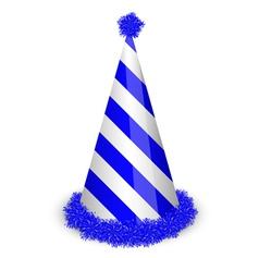 blue birthday cap vector image