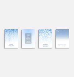 blue light gradient covers - mosaic geometric vector image