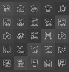Car accidents icons vector