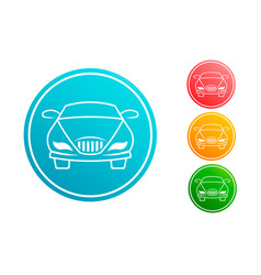 car automobile circle set vector image