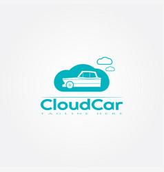 Car icon templatecloudcreative logo design element vector