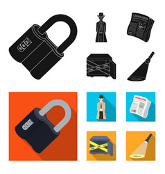 coded lock the appearance of the detective a vector image