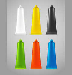 Collection of color plastic tubes vector image