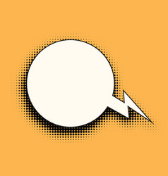 comic bubble halftones vector image