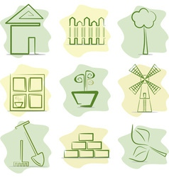 contryside life and gardening vector image