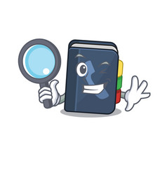 Cool and smart phone book detective cartoon vector