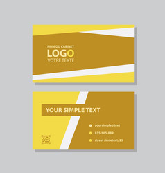 creative and clean double-sided business card vector image