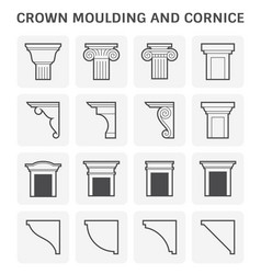 crown moulding cornice vector image