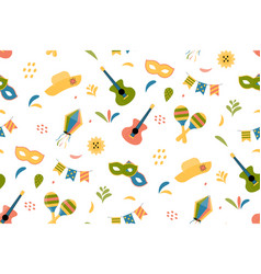 cute festive seamless pattern background vector image
