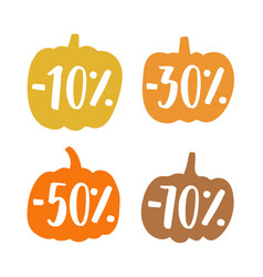 cute small pumpkins sale badges vector image