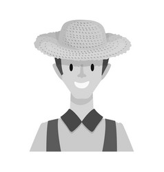 Design of farmer and man symbol set vector