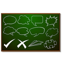 Different design of speech bubbles on board vector image