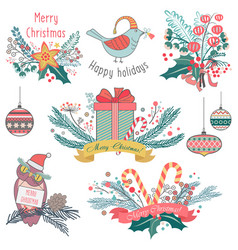 different gifts presents vector image