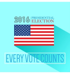 Digital usa presidential election 2016 vector image