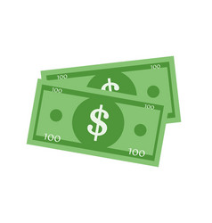 dollar sign flat icon vector image