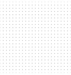 dotted grid seamless pattern with dots vector image