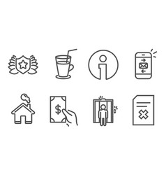 Elevator laureate and mail icons cocktail vector