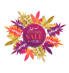 fall sale banner vector image