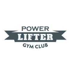 Fitness power lifter image vector