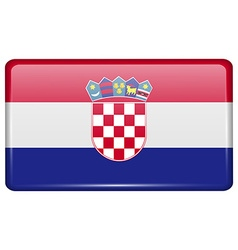 Flags Croatia in the form of a magnet on vector